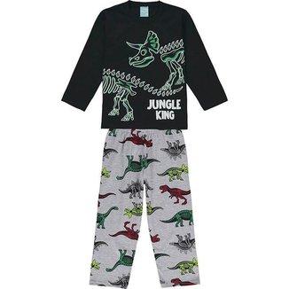 Conjunto Pijama - Camiseta Manga Longa e Calça - KYLY - Lukas Kids Moda Infantil.