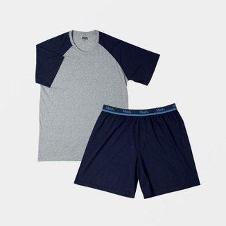 Conjunto Pijama Mash Curto Algodão Masculino