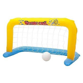 Conjunto Polo Aquático Bestway com bola e gol inflável 1,42m