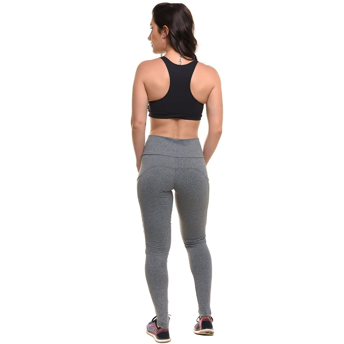 Fitness Conjunto Com Train Top Proteção Feminino Power Solar Sandy Mescla Legging AqpwRF