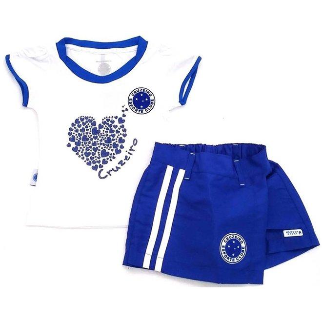 Saia Branco e Anos Short Azul Conjunto Cruzeiro Malha Menina Dor 2 Reve  Meia Microfibra 5RPwq4 5eaee7a7e663d