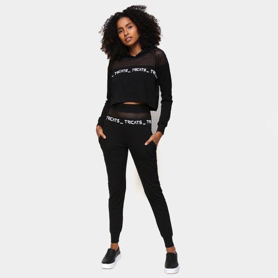 Conjunto Tricats Sport Easy Wear Feminino - Preto