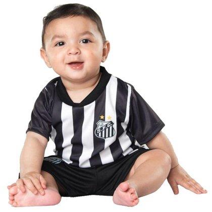 Conjunto Uniforme para Bebê do Santos