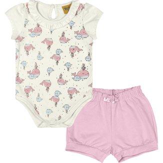Conjunto: body cotton e shorts molecotton 93181