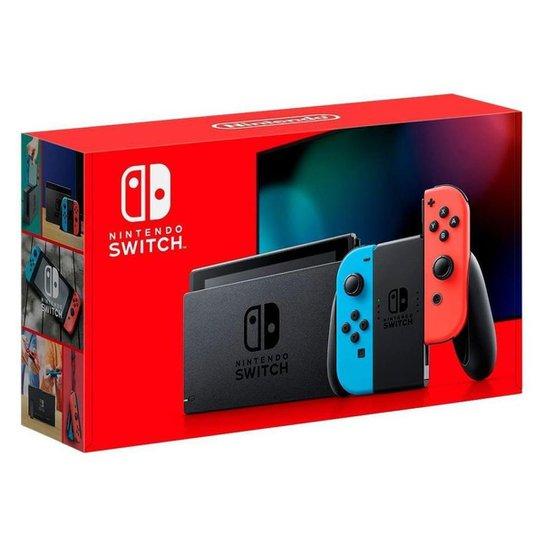 Console New Nintendo Switch 32GB com Joy-Con Azul/Vermelho - Azul+Vermelho