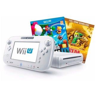 Console Nintendo Wii U - 8 GB c/ 3 Jogos