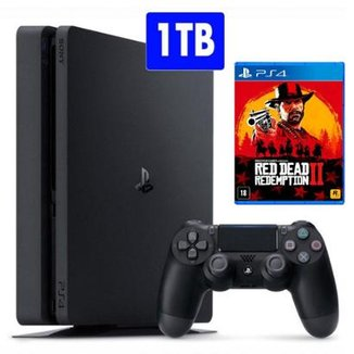 Console PlayStation 4 Slim Sony Com Jogo Red Dead Redemption 2