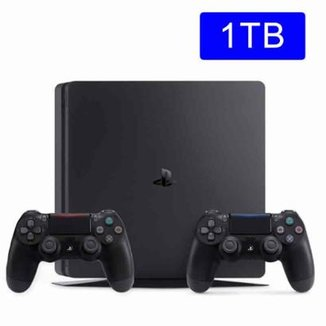 Console Playstation 4  Sony Slim 1TB c/ 2 controles