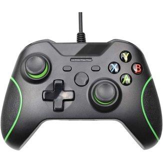Controle compativel para manete Xbox One Com Fio -  preto marca j.x