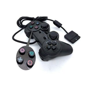 Controle compativel play 2 Joystick Dualshock Ps2 Com Fio marca m.art