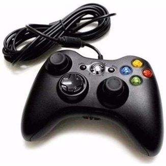 CONTROLE compativel  X BOX 360 E  PC COM FIO 2 METROS - M.A