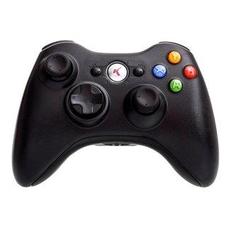 Controle joystick sem fio original Knup KP5122 Xbox360 Preto