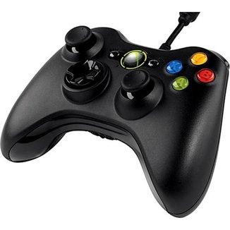 Controle Manete Com Fio Xbox 360 Pc Slim Joystick Vibra