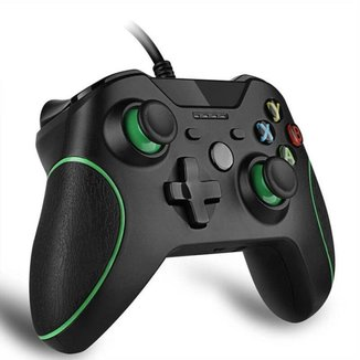 Controle Manete Xbox One (s) Ou Pc Gamer Com Fio Cor Preto