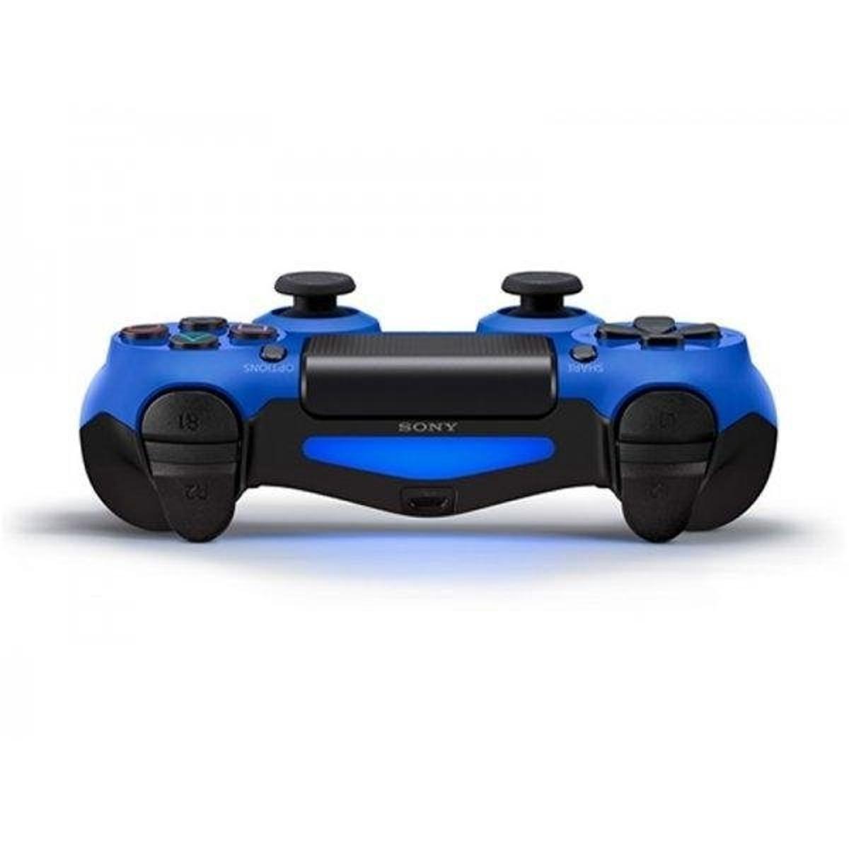 Controle PS4 Original (Dualshock 4) - Azul - Preto+Azul