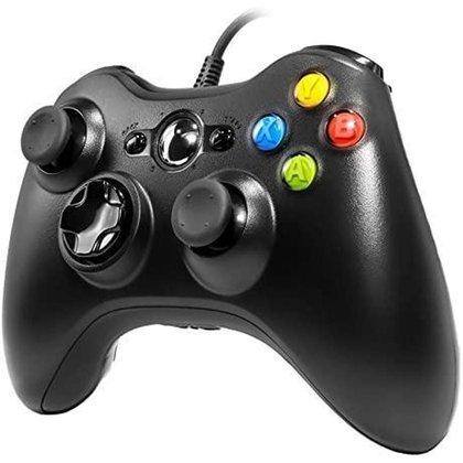 Controle Xbox 360 Pc Joystick Com Fio - Preto COMPATIVEL