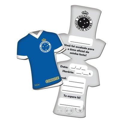 Convite Festcolor Cruzeiro 8 Unidades