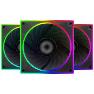 Cooler 120mm Controlável Bluecase S-LED Series - RGB Ring - BFR-22RGB