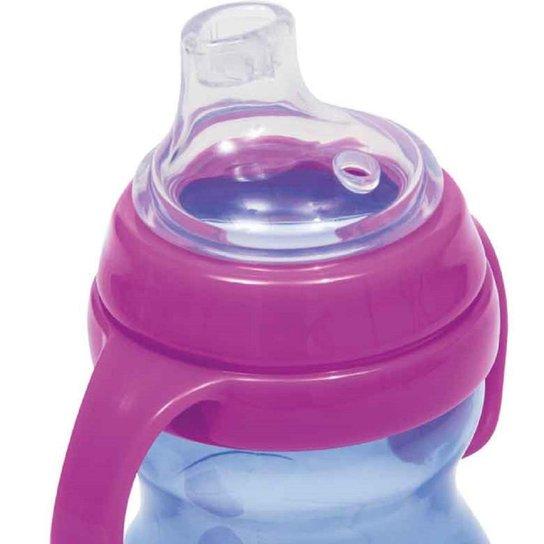 Copo Bico de Silicone com Alça Antivazamento para Bebê Buba - Roxo