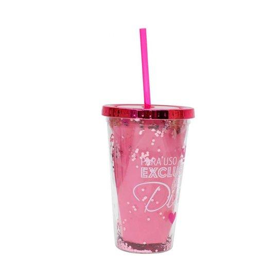 Copo Canudo Rosa Para Uso Exclusivo Diva 450ml - Projeto Kiwi - Rosa