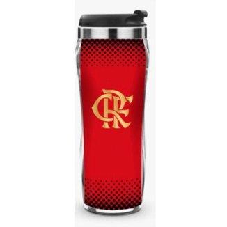Copo de Plástico e Inox 450ml - Flamengo