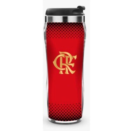 Copo de Plástico e Inox 450ml - Flamengo - Única