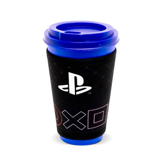 Copo Fun 550Ml Com Cinta Simbolos Playstation - Incolor
