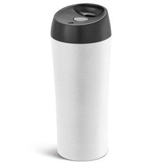 Copo Inox com Tampa Antivazamento 470 ml TopGet - Branco