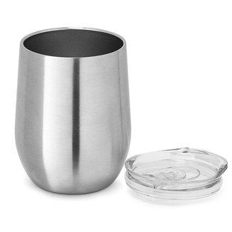 Copo Inox Corpo Duplo 400 ml Shine TopGet - Inox