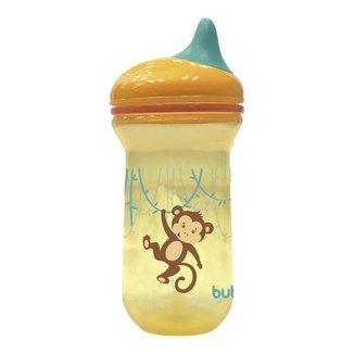 Copo Monkey Bico de Silicone e Tampa Antivazamento para Bebê Buba