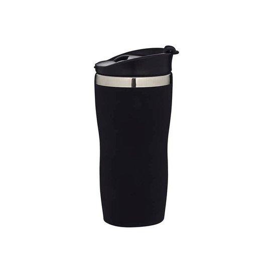 COPO TÉRMICO AÇO INOX EMBORRACHADO 450 ML COFFEE TO GO MOR - Preto
