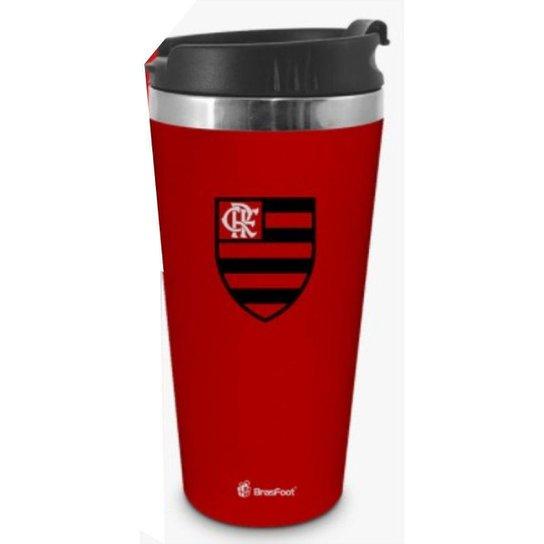 Copo Térmico Emborrachado 450ml - Flamengo - Única