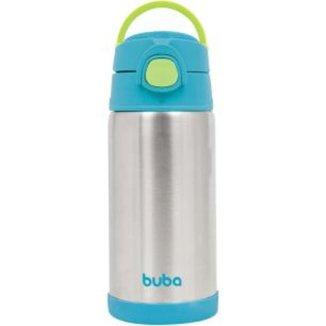 Copo Térmico Parede Dupla Com Canudo 400 Ml - Azul Buba Baby
