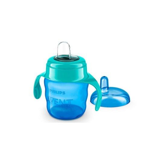 COPO TRANSIÇÃO EASY SIP C/ BICO SILICONE 200ml - 0% BPA - 6m+ - MENINO - PHILIPS AVENT - Azul