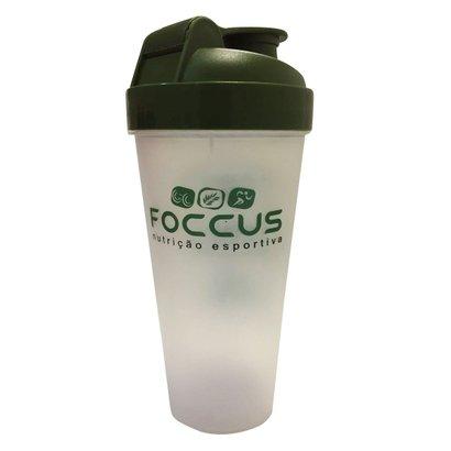 A coqueteleira Foccus nutrição de 600ml, traz o logo da marca silkado em preto, um produto prático para o consumo de seu...