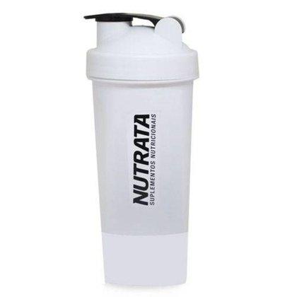 Coqueteleira - 600ml Branca 2 doses - Nutrata