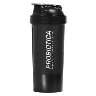 Coqueteleira Premium 2 Doses - 700ml - Preto e Grafite - Probiótica