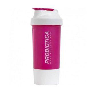 Coqueteleira Premium 2 Doses - Rosa e Branco - 700ml - Probiótica
