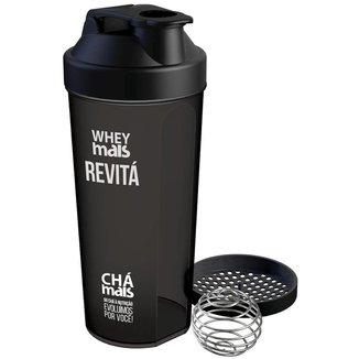 Coqueteleira Shaker Whey Mais Preta
