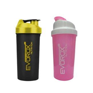 Coqueteleira / Squeezer / Shakeira Resistente 600ml - Evorox