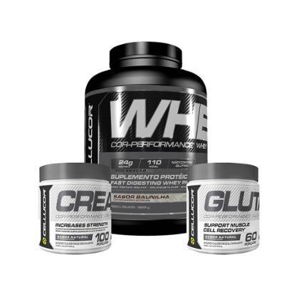 Cor-Performance Whey (1,626 Kg) + Creatina (300G) + Glutamina (300G)