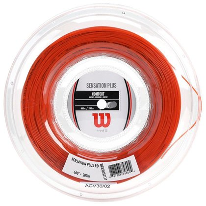 Corda Sensation Plus 16 1.34mm Rolo c/ 200m Vermelha - Wilson