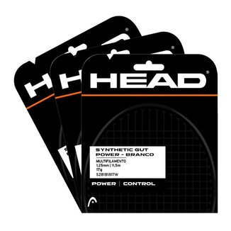 Corda Synthetic Gut Power 17 1.25mm Branca Pack Com 03 Set Individual - HEAD