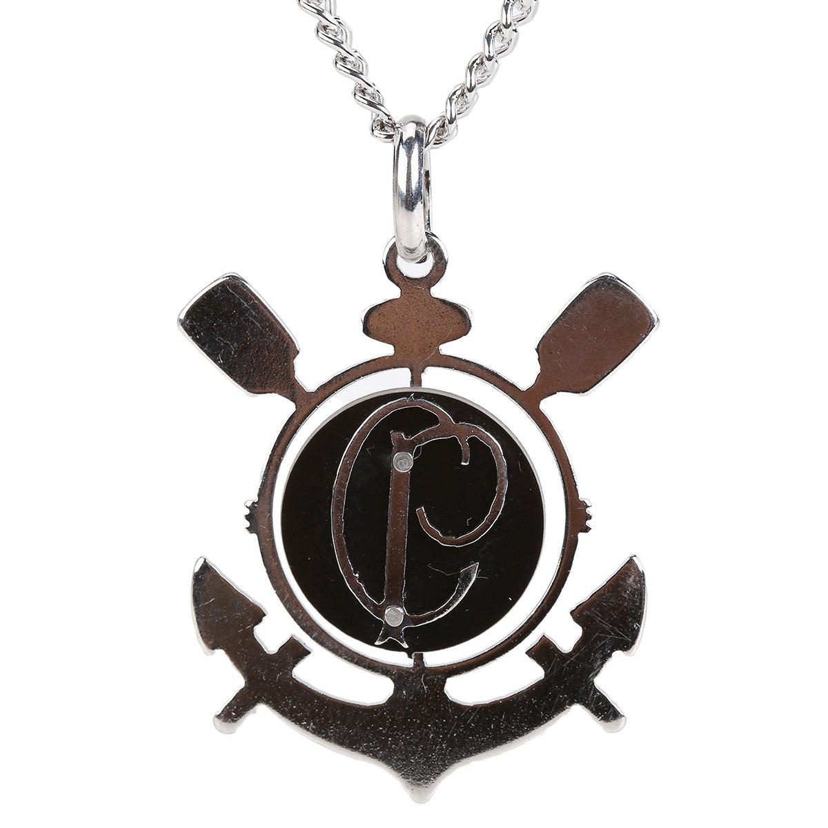 Corrente Corinthians c  Pingente Símbolo e CP Masculina - Compre Agora  20fef15a45029