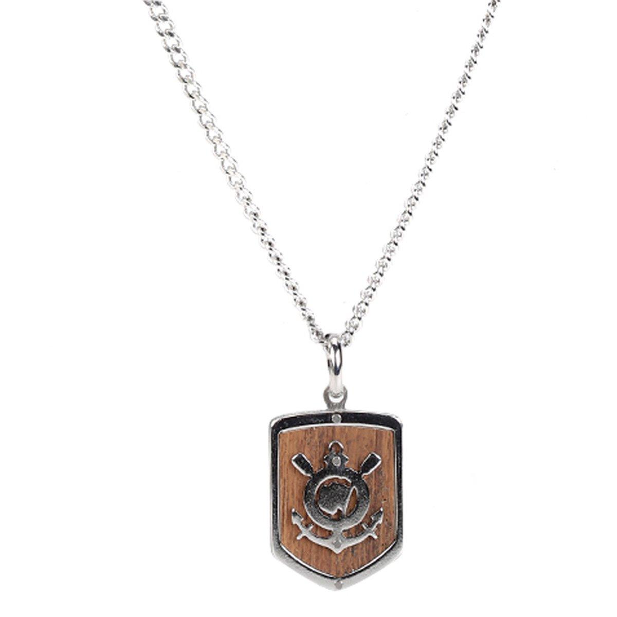 Corrente Corinthians c  Pingente Símbolo em Aço Masculina - Compre Agora  ee71dc2b2c462