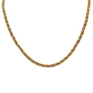 Corrente Em Ouro 18K Malha Corda Trancada 40cm - CR10237