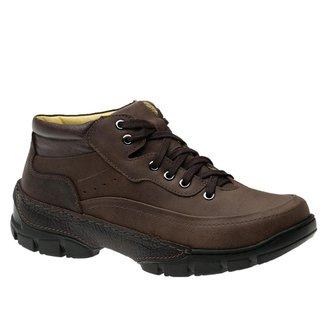 Coturno Adventure Track em Couro Graxo Chocolate/Café 8468 Doctor Shoes