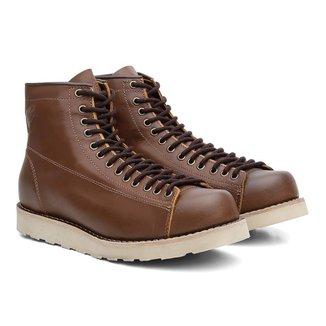 Coturno Black Boots Couro Cadarço Cano Médio Casual