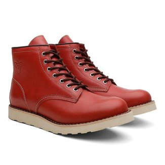 Coturno Black Boots Couro Liso Cano Médio Conforto