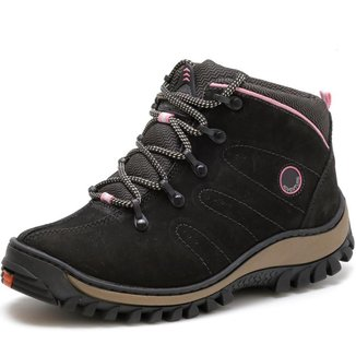 Coturno Masculino Couro Para Trekking Resistente - 2206